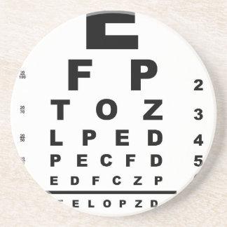 Eye Test Chart Coaster