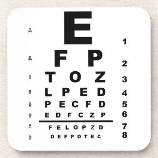 Eye Test Chart Drink Coaster