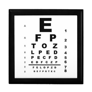 Eye Test Chart Gift Box
