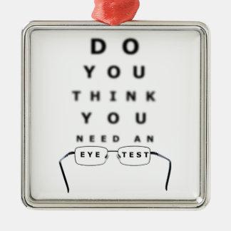 Eye Test Chart Metal Ornament