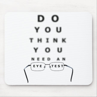 Eye Test Chart Mouse Pad