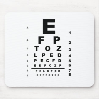 Eye Test Chart Mouse Pad