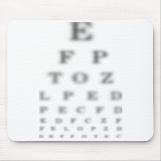 Eye test chart mousepad