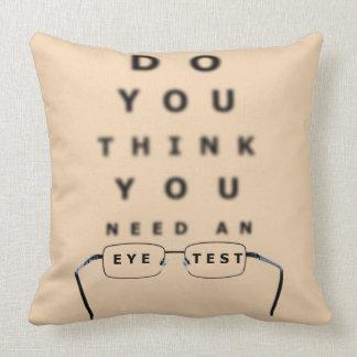 Eye Test Chart Pillow