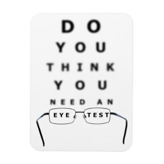 Eye Test Chart Rectangular Photo Magnet