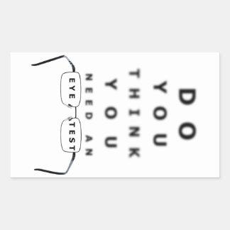 Eye Test Chart Rectangular Sticker