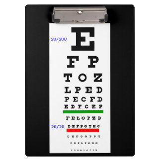 Eye Testing Chart Clipboard