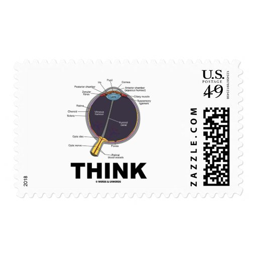 Eye Think (I Think Anatomical Eye Humor) Stamps