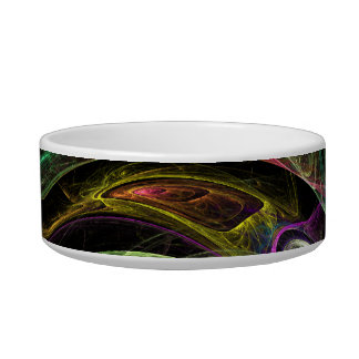 Eye to Eye Abstract Art Cat Bowl