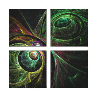 Eye to Eye Abstract Art Quad Canvas Print