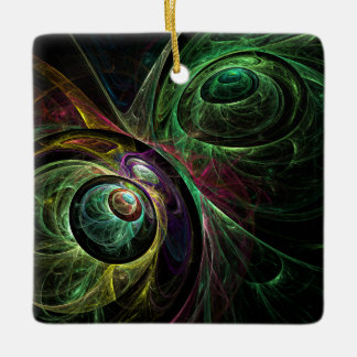 Eye to Eye Abstract Art Square Ornament