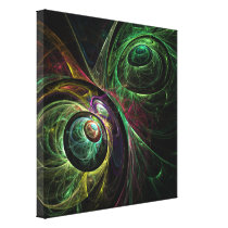 Eye to Eye Abstract Art Wrapped Canvas Print