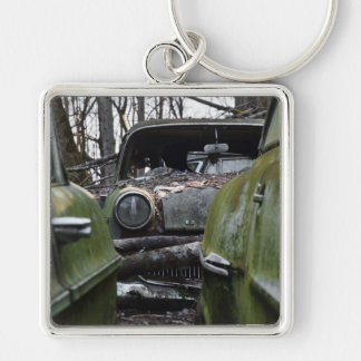 Eye to Eye Silver-Colored Square Keychain