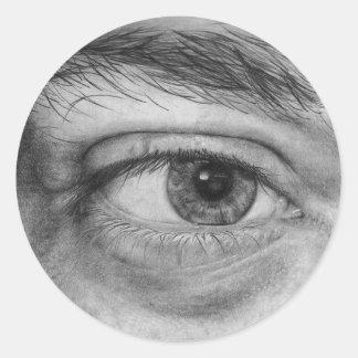 Eye Transfer Classic Round Sticker