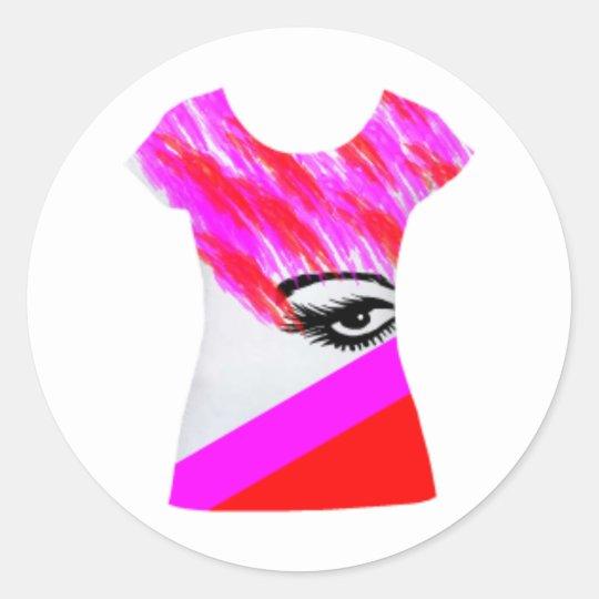 Eye Tshirt Design Classic Round Sticker