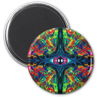 Eye Twisted and Trippy 2 Inch Round Magnet