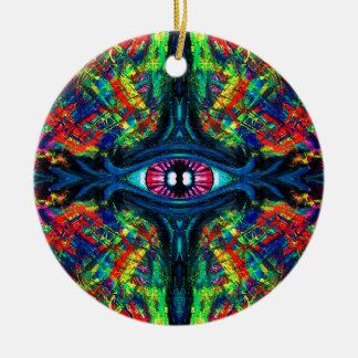 Eye Twisted and Trippy Ceramic Ornament