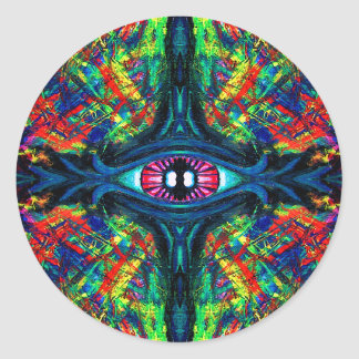 Eye Twisted and Trippy Classic Round Sticker