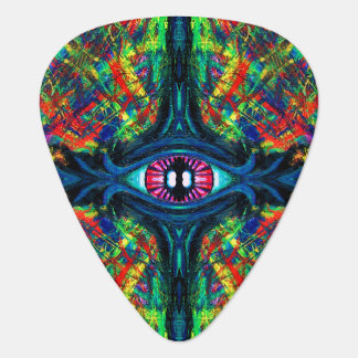 Eye Twisted and Trippy Guitar Pick
