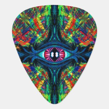 Eye Twisted And Trippy Guitar Pick by FlowstoneGraphics at Zazzle