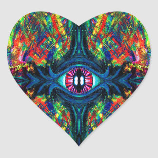 Eye Twisted and Trippy Heart Sticker