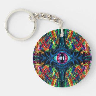 Eye Twisted and Trippy Keychain