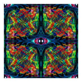Eye Twisted and Trippy Poster
