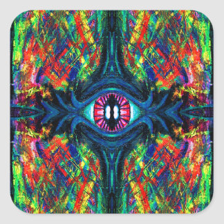 Eye Twisted and Trippy Square Sticker