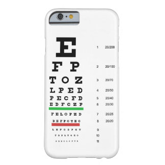 eye vision chart of Snellen for opthalmologist Barely There iPhone 6 Case