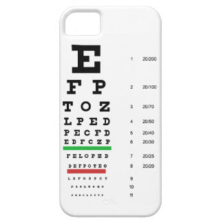 eye vision chart of Snellen for opthalmologist iPhone SE/5/5s Case