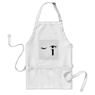 Eye winking with letter i forming the eyeball adult apron