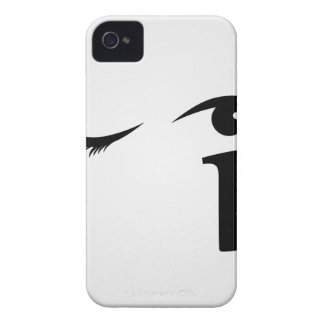 Eye winking with letter i forming the eyeball Case-Mate iPhone 4 case