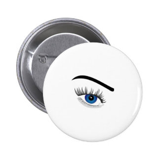 Eye with contact lens pin