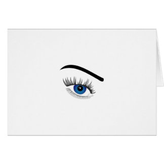 Eye with contact lens card