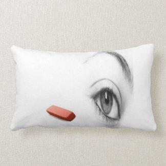 eye with eraser lumbar pillow