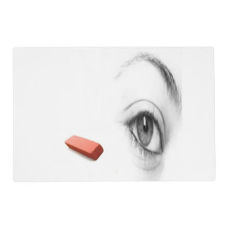 eye with eraser placemat