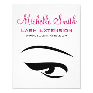 Eye with eyeliner lash extension branding flyer