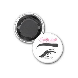 Eye with eyeliner lash extension branding magnet