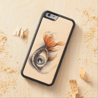 Eye with fish tail Surreal art Phone wood case Carved® Maple iPhone 6 Bumper Case