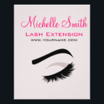 """Eye with long lashes lash extension branding flyer<br><div class=""""desc"""">Custom company branding products matching lash extension business cards. Drawing of long eyelashes in grey,  beige black and pink. Perfect for your company promotion. Suitable for make-up artists,  lash extension,  beauticians,  stylists,  spa salon ,  hair and beauty salon or model agency. Customizable.</div>"""