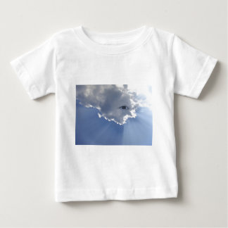 Eye with rays through clouds baby T-Shirt