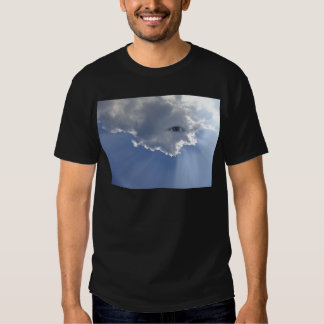 Eye with rays through clouds T-Shirt