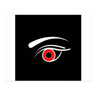 Eye with red iris postcard