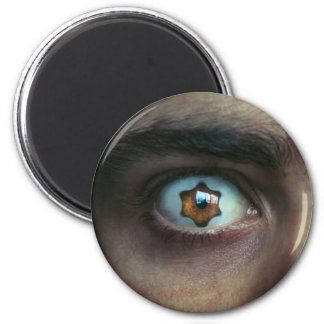 Eye with Star Shaped Iris 2 Inch Round Magnet