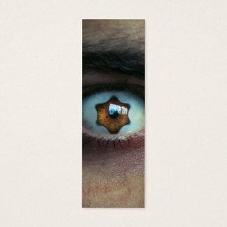 Eye with Star Shaped Iris Mini Business Card