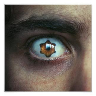 Eye with Star Shaped Iris Photo Art