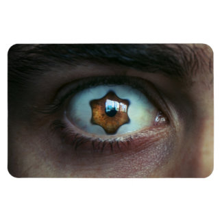 Eye with Star Shaped Iris Rectangular Photo Magnet