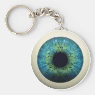EYEBALL! (A great Halloween novelty item!) ~ Basic Round Button Keychain