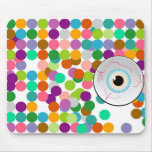 Eyeball and Dot Background Mouse Pad