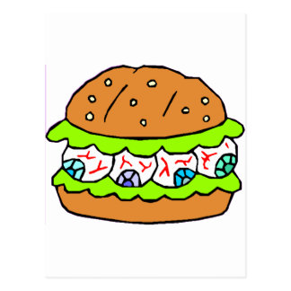 Eyeball Burger Postcard
